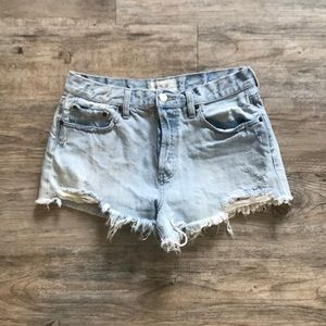 Free People Lace Detail Shorts